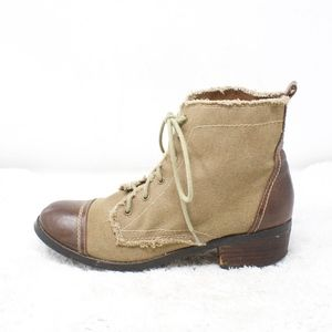 Sbicca Vintage Collection Canvas Ankle Boots 8.5